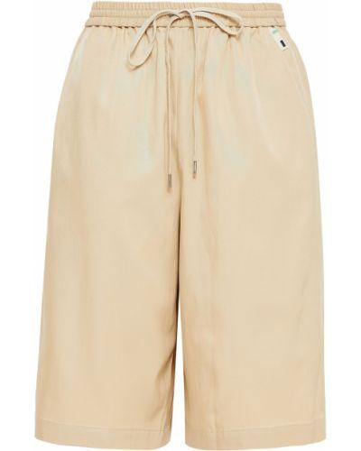 Бежевые шорты с карманами Tibi