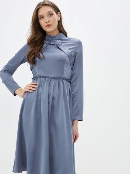 Синее вечернее платье Cavo