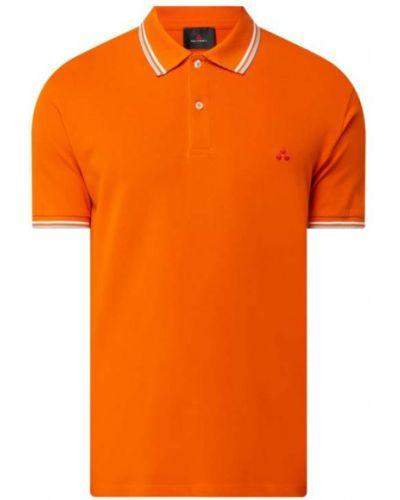 Pomarańczowy t-shirt w paski bawełniany Peuterey