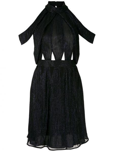 Приталенное платье мини с открытой спиной с воротником на молнии Reinaldo Lourenço