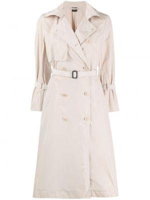 Biały długi płaszcz z długimi rękawami Aspesi