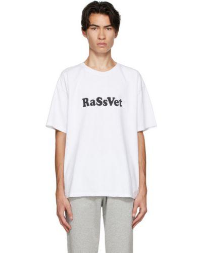 Хлопковая белая рубашка с коротким рукавом с воротником с короткими рукавами Rassvet