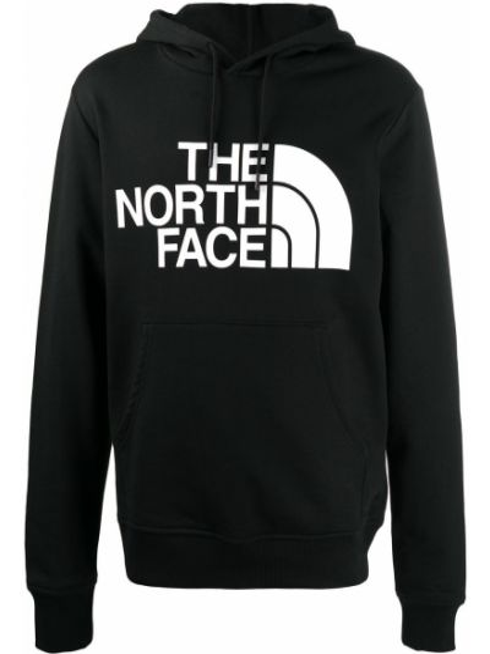 Черное худи с капюшоном с длинными рукавами The North Face