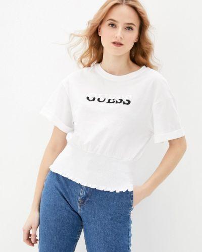 Белая футболка с короткими рукавами Guess Jeans