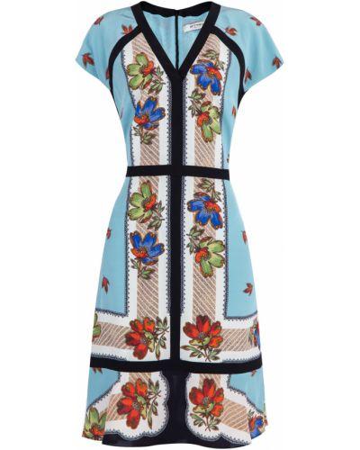 Платье миди с V-образным вырезом на молнии Etro