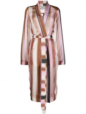 Długi płaszcz - różowy Rick Owens