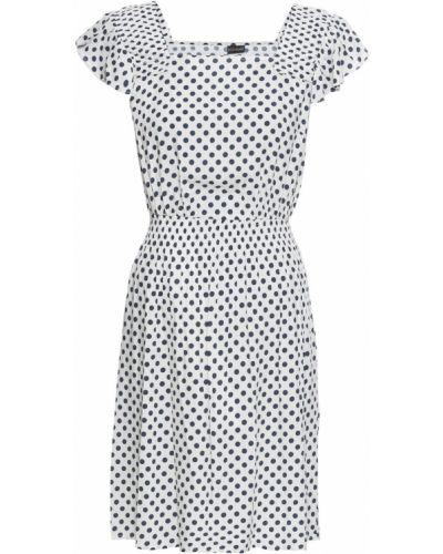 Летнее платье в горошек с драпировкой Bonprix