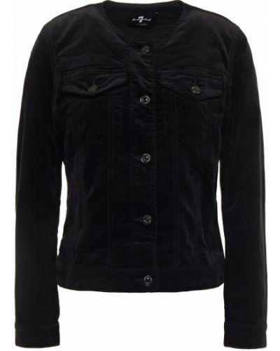 Бархатная ватная черная куртка 7 For All Mankind