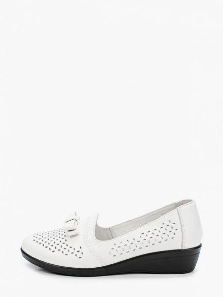 Кожаные туфли - белые Kari