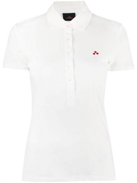Белая рубашка с короткими рукавами с воротником Peuterey