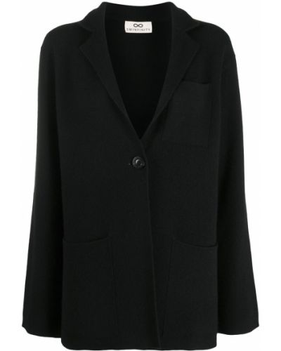 Черный пиджак с карманами на пуговицах с лацканами Sminfinity