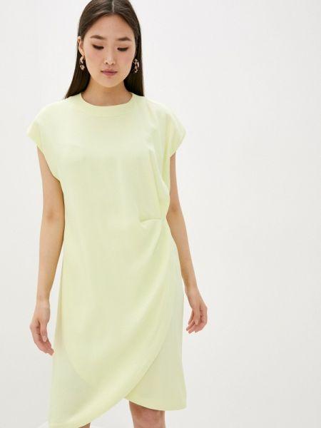 Повседневное платье весеннее желтый Lautre Chose