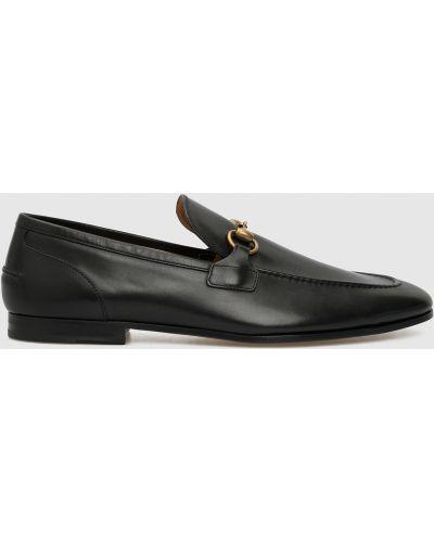 Черные кожаные лоферы Gucci