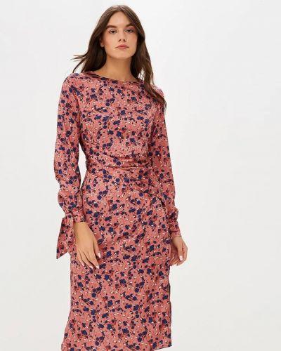 Розовое платье с принтом Lost Ink.