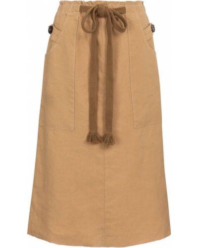 Ciepła beżowa spódnica midi Tod's