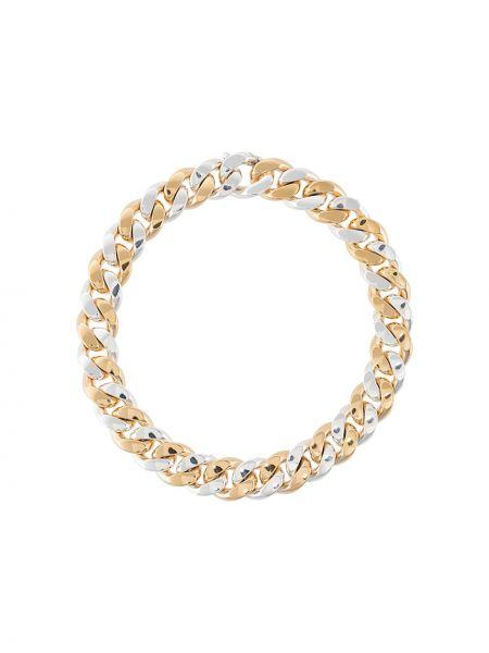 Золотистая желтая цепочка из серебра Bottega Veneta