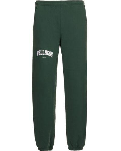 Zielone spodnie dresowe Sporty And Rich