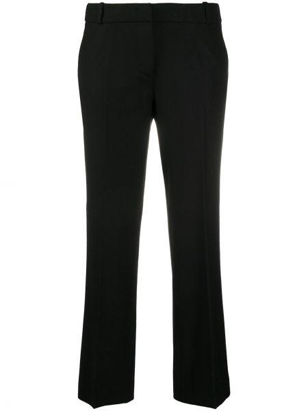 Черные акриловые прямые брюки с потайной застежкой Drumohr