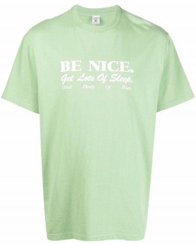 Zielona koszulka krótki rękaw Sporty And Rich