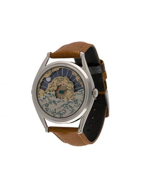Кварцевые часы с круглым циферблатом на кожаном ремешке Mr Jones