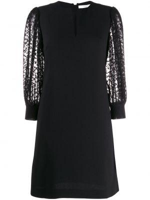 Прямое шелковое платье с V-образным вырезом на молнии Givenchy