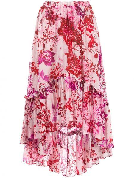 Różowa spódnica rozkloszowana z wysokim stanem So Allure