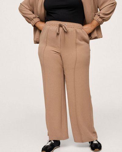 Бежевые брюки осенние Violeta By Mango
