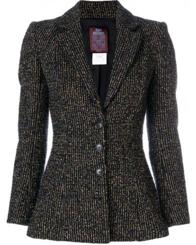 Черный приталенный классический пиджак на пуговицах John Galliano Pre-owned