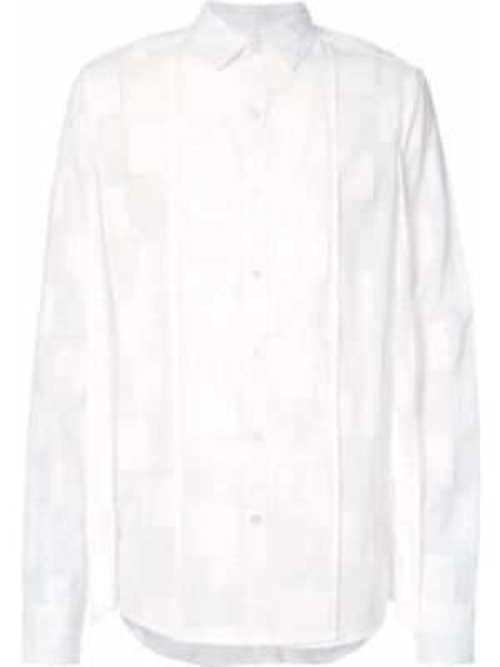 Хлопковая белая рубашка с длинными рукавами со вставками Private Stock