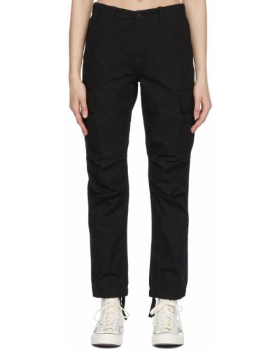 Spodnie bawełniane - czarne Carhartt Work In Progress