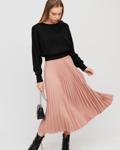 Деловая плиссированная юбка миди на резинке Cardo