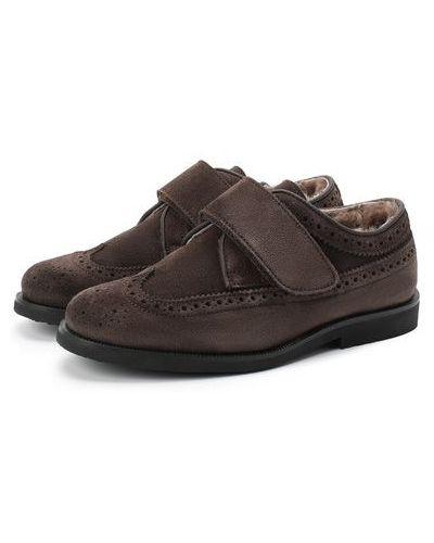 Кожаные коричневые туфли с подкладкой Rondinella