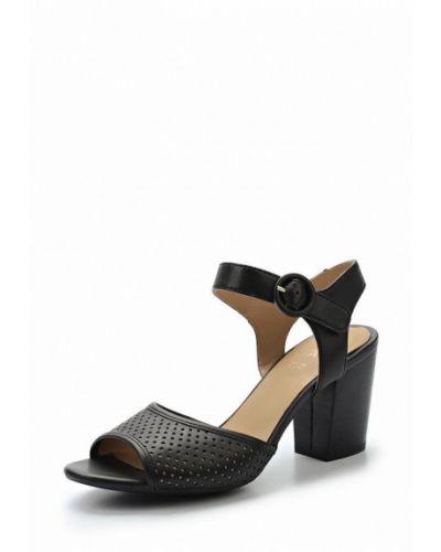 Черные босоножки на каблуке Geox
