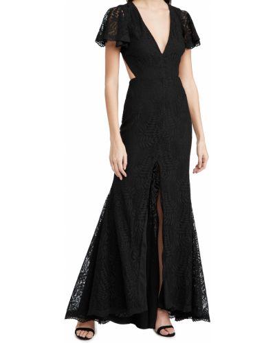 Кружевное черное платье с открытой спиной Fame And Partners
