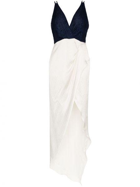 Темно-синее нейлоновое платье с запахом без рукавов Haney