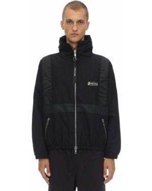 Czarna kurtka z kapturem z haftem Daniel Patrick