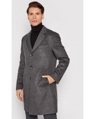 Płaszcz wełniany - szary Boss