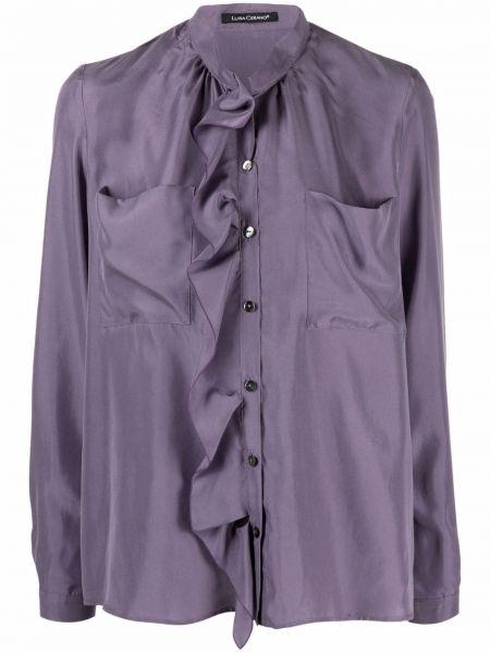 Фиолетовая шелковая блузка Luisa Cerano
