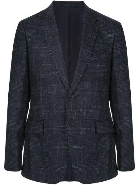 Niebieska kurtka wełniana Kent & Curwen