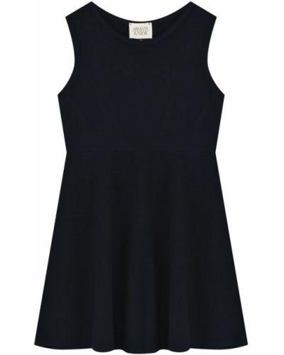 Платье мини из вискозы приталенное Armani Junior