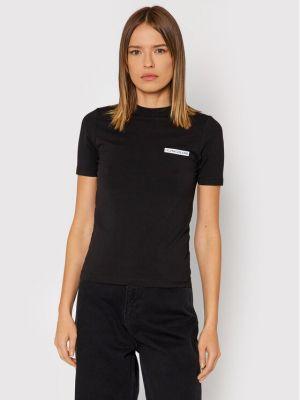 T-shirt - czarna Calvin Klein Jeans