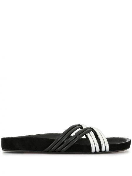 Sandały skórzany czarne Isabel Marant