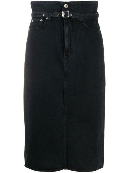 Джинсовая юбка на пуговицах с завышенной талией Rag & Bone