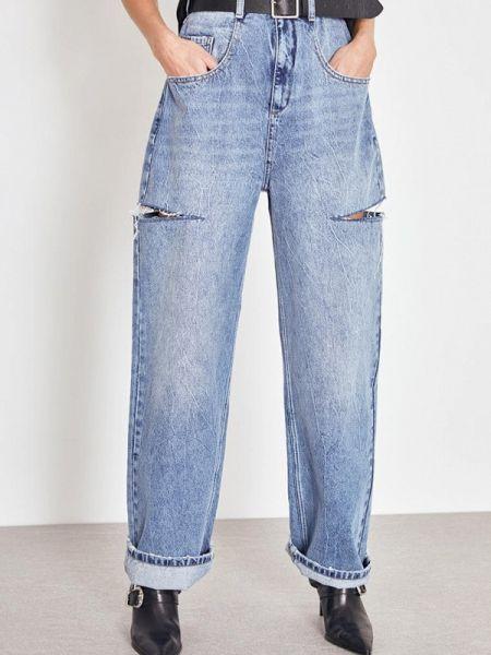 Широкие джинсы расклешенные зеленый Lime