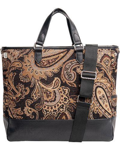 Brązowa torebka na łańcuszku z nylonu Beis