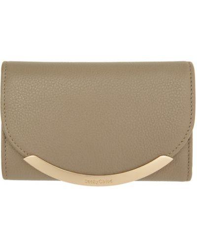 Złoty czarny portfel See By Chloe
