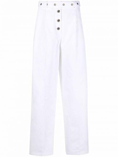 С завышенной талией белые брюки с карманами Mrz