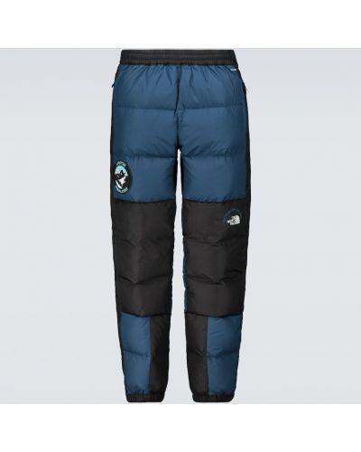 С кулиской пуховые синие брюки The North Face