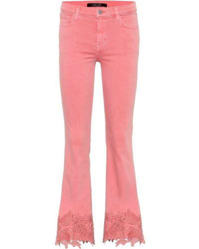 Розовые джинсы стрейч с воротником с рисунком J Brand