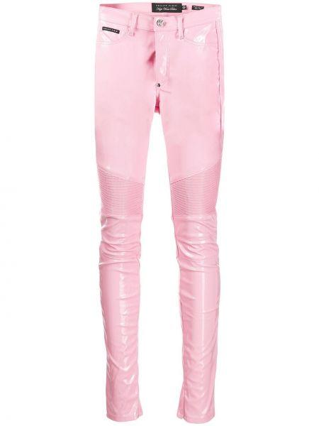 Spodnie z wysokim stanem Tays różowe Philipp Plein